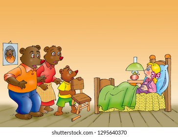 children's fairy tales goldilocks and the three bears