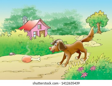 Greedy Dog Images Stock Photos Vectors Shutterstock