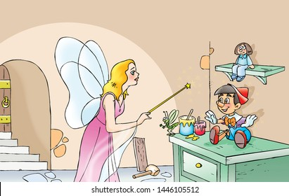 children's fairy tales Pinocchio puppet