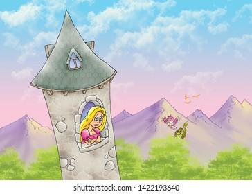 children's fairy tales rapunzel hair