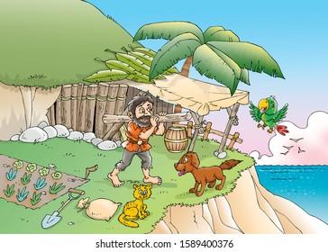 children's fairy tales Robinson Crusoe
