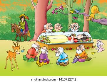 children's fairy tales snow white and the seven dwarfs