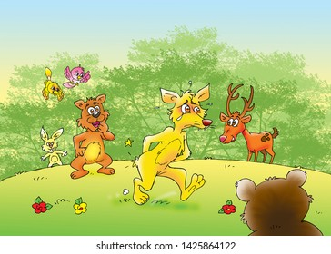 children's fairy tales the tail of the fox