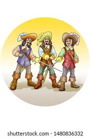 children's fairy tales the Three Musketeers