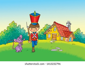 children's fairy tales the tin soldier