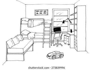 1000 Bedroom Drawing Stock Images Photos Vectors