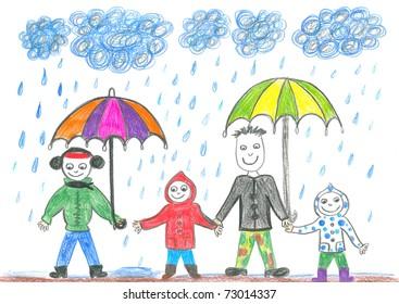 Rain Drawing Images Stock Photos Vectors Shutterstock