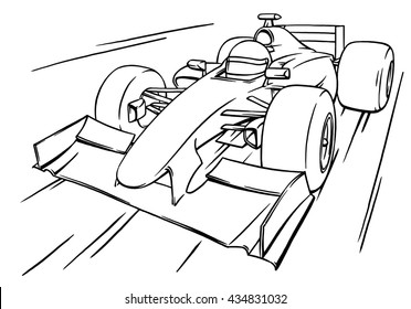funny race images stock photos vectors shutterstock Soap Box Derby 2018 Indianapolis child s funny fast cartoon formula race car illustration art