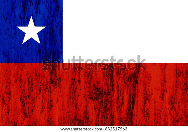 Chile flag grunge background. Background for design in country flag