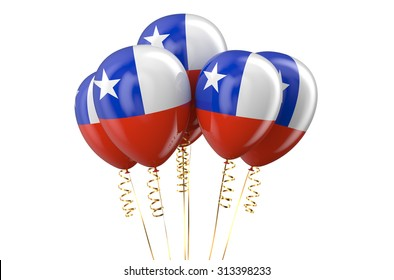 Chile patriotic balloons, holyday concept
