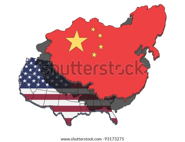 China dominating and overshadowing the USA.