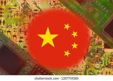 China flag visible above PCB.