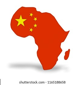 China invest in Africa, 3d illustration