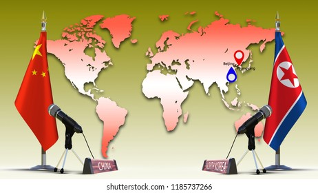 Greece Albania Flags Negotiate Talking Speech Stock Illustration ...