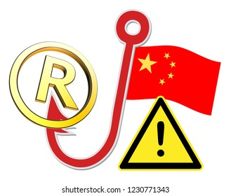 Chinese companies hacking trademark secrets. Warning sign to be aware to protect intellectual properties