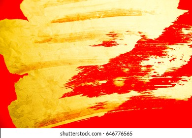 chinese gold ink /red paper/new design
