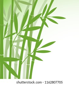 Chinese or japanese bamboo grass oriental wallpaper stock illustration. Tropical asian plant background