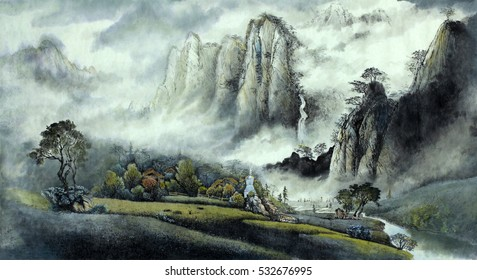 Landscape Painting Images, Stock Photos & Vectors | Shutterstock