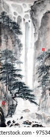 Chinese landscape painting.