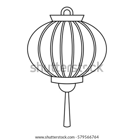 chinese new year lantern icon outline illustration of chinese new year lantern icon for web