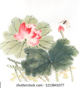 Chinese painting of a Lotus