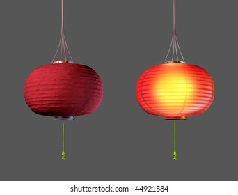 Paper lamp shade images stock photos vectors 10 off shutterstock chinese paper lamp 3d model on gray background aloadofball Gallery