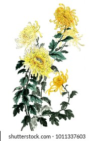 Chinese Traditional Hand Painting - chrysanthemum