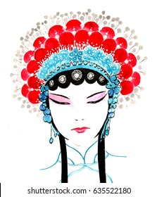 Chinese Traditional Hand Painting - Chinese Peking Opera
