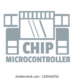 Chip microcontroller logo. Simple illustration of chip microcontroller logo for web