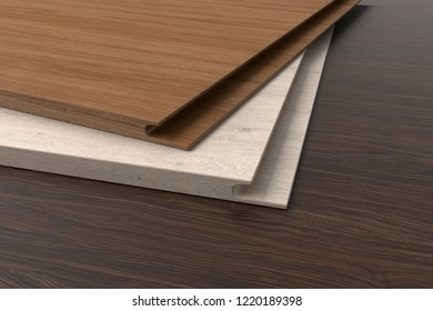 Chipboard board for wardrobe. 3d render