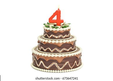 Superb 4Th Birthday Cake Images Stock Photos Vectors Shutterstock Funny Birthday Cards Online Sheoxdamsfinfo