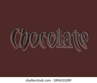 Chocolate is a food made from cacao beans. It is used in many desserts like pudding cakes candy ice cream and Easter eggs the words in picture written 3d