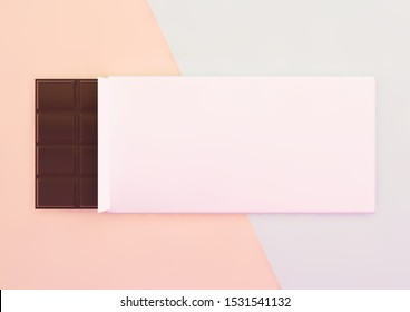 chocolate packaging mockup 3d rendering