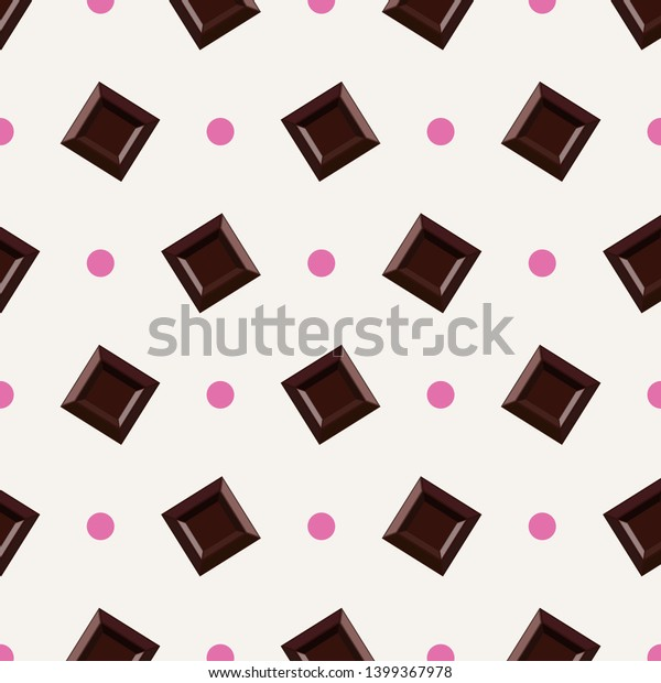 Chocolate Pattern Digital Papers Wallpaper Stock Illustration 1399367978