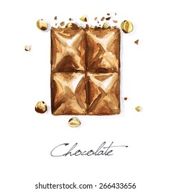 Chocolate - Watercolor Food Collection