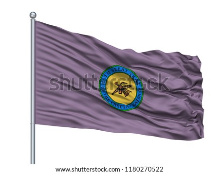 Choctaw Indian Flag On Flagpole Isolated Stock Illustration