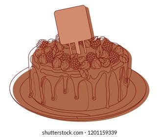 chokolate sweet cakes illustration