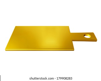 chopping board for the kitchen in gold