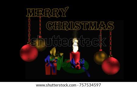 Christbaumkugeln Ornament.Christbaumkugeln Mit Text Frohe Weihnachten Englisch Stock