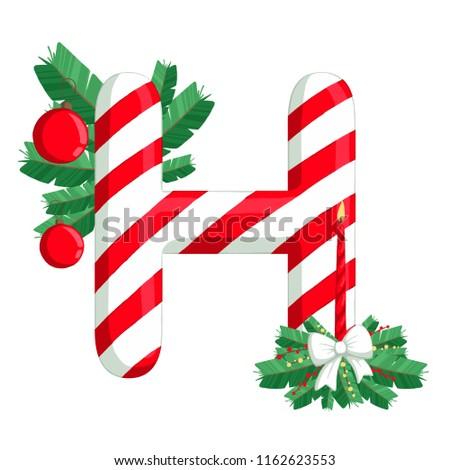 8d77ae0dae11f Royalty Free Stock Illustration of Christmas Alphabet Illustration ...