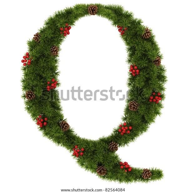 Christmas Alphabet.Christmas Alphabet Letter Q Stock Illustration 82564084