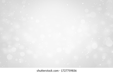 christmas background with Bright sparkle background. Shine glitter White silver christmas lights bokeh