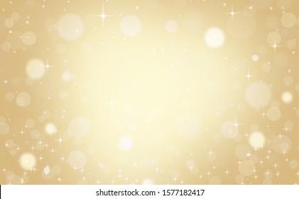 Christmas Background Gold Abstract. Light Bokeh Holiday Christmas.