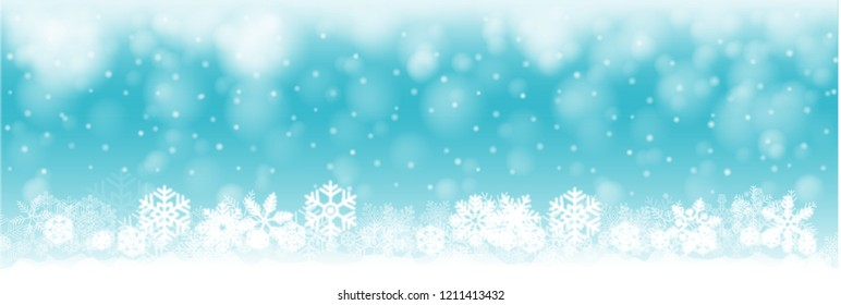 christmas background illustration, christmas banner with snow and snowflakes