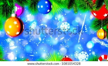 Christmas Background Nice Balls 3 D Rendering Stock Illustration ...