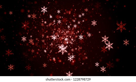 Christmas Background Ornaments