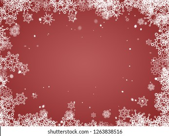 Christmas background - red backdrop - New year and Christmas postcard