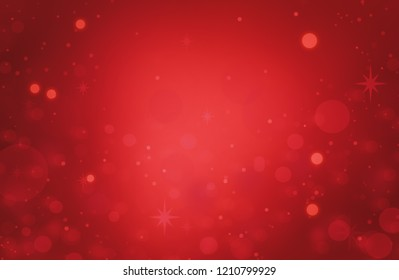 Christmas background red. Holiday pattern abstract light bokeh