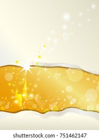 christmas background with a scratch in the paper-golden background with space for your text