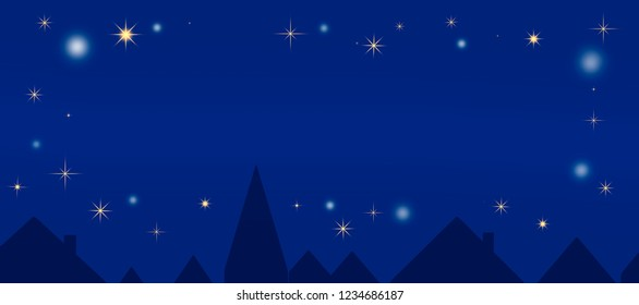 Christmas background with starry sky